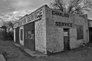 Charlie's Radiator Service garage, aka Charley's Automotive Service, Grants, NM | by drivetheost