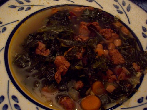 Carb-less Linguiça and Kale Soup | by mia3mom