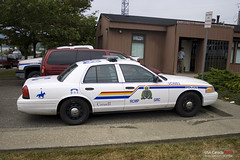 RCMP - Royal Canadian Mounted Police, Tofino by st. in ca.