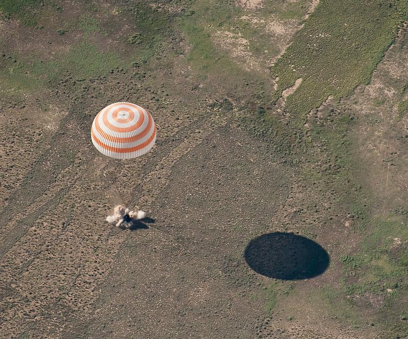 Soyuz TMA-17 Lands