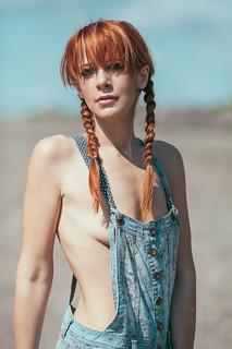 Naked sexy women overalls eel