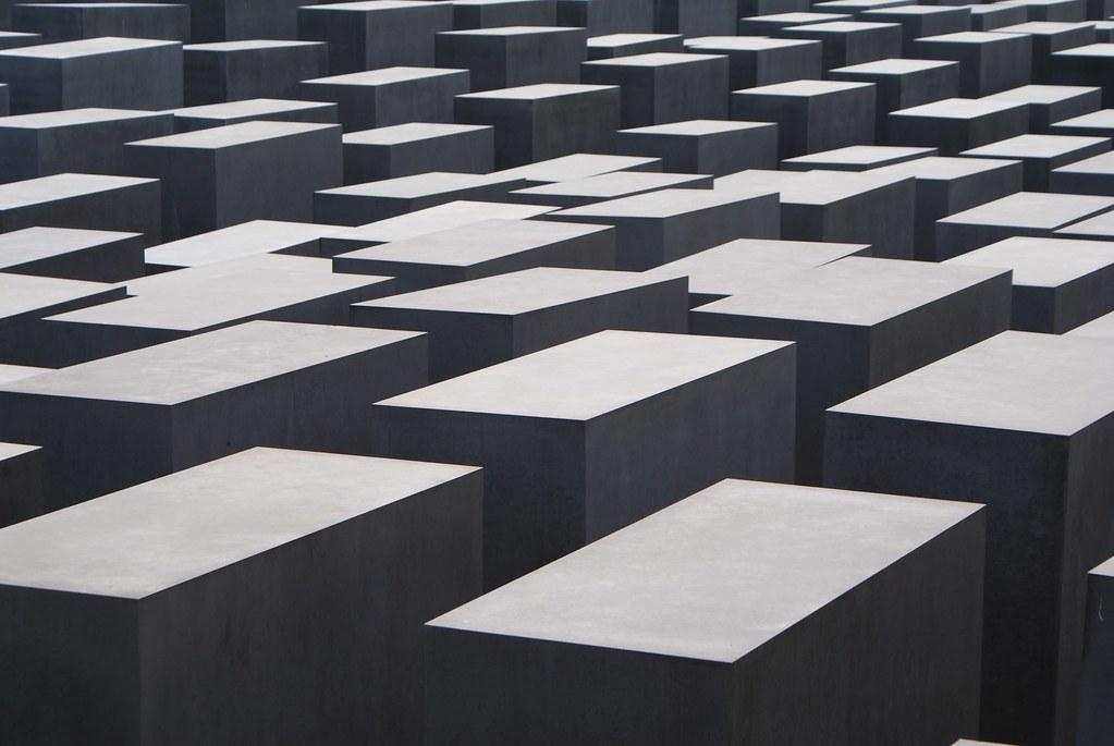 Mémorial de l'holocauste à Berlin près de la Porte de Brandebourg.