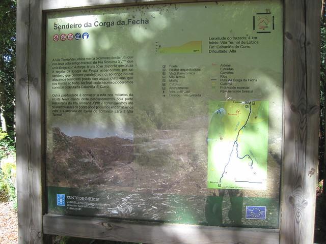 Panel Informativoen el Sendeiro da Corga da Fecha en el Parque Baixa Limia-Serra do Xurés