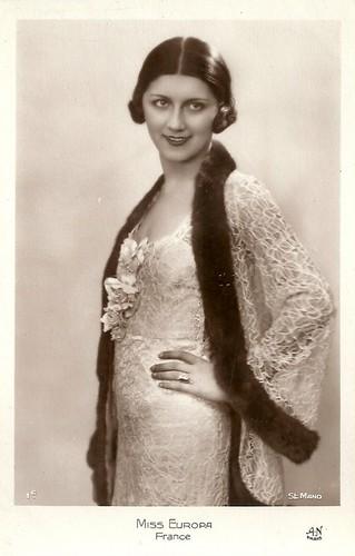 Miss Europe 1931: Jeanne Juilla