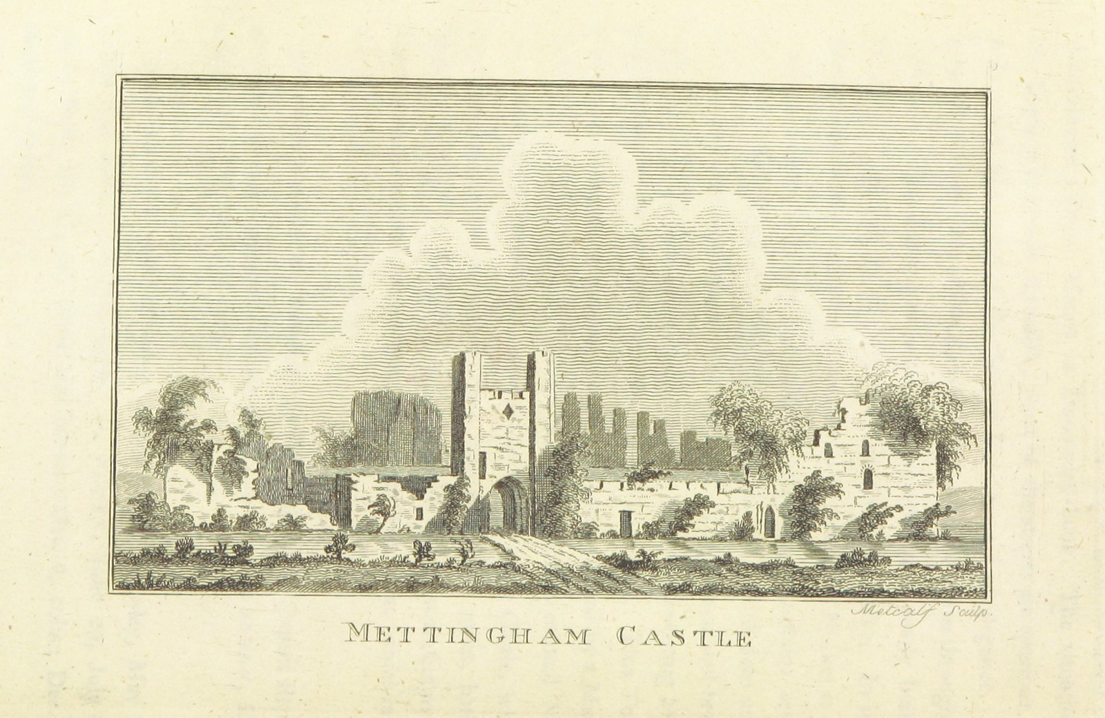 https://en.wikipedia.org/wiki/Mettingham_Castle (з колекції British library)