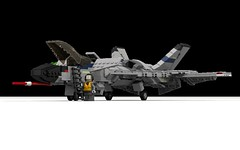 "Northrop Grumman YF-36B ""Switchblade II"" by Lego Pilot"