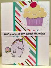 CAS Unicorn Cupcake Handmade Card by papercrafthappy411