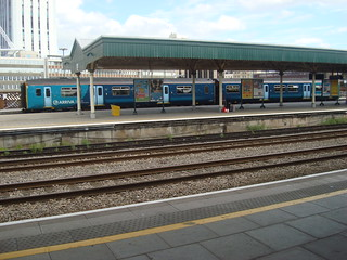Arriva Trains Wales Class 150 at Cardiff Central