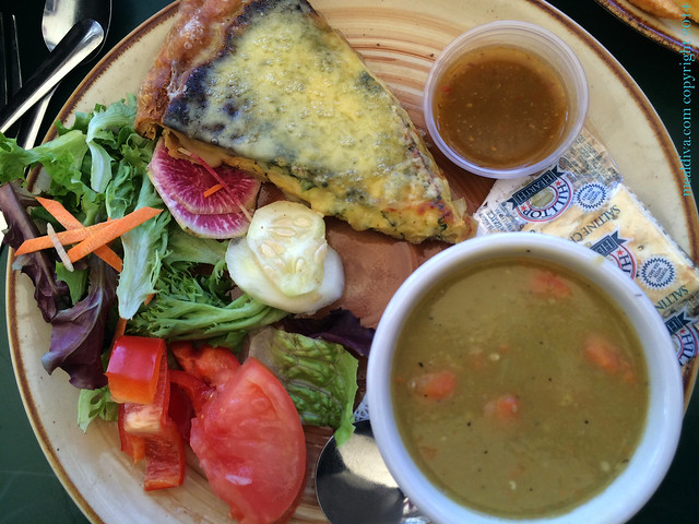 Spinach and feta quiche at The Bridge Cafe in Frenchtown