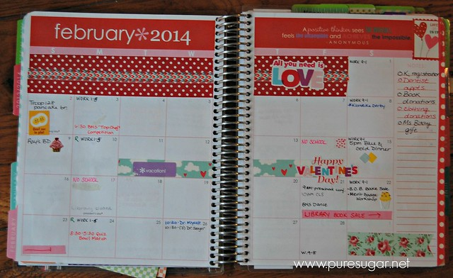 my erin condren planner - february