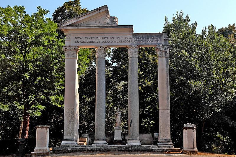 Jardin de la Villa Borghese dans le parc Borghese à Rome - Photo de Marc Biarnès @ Flickr