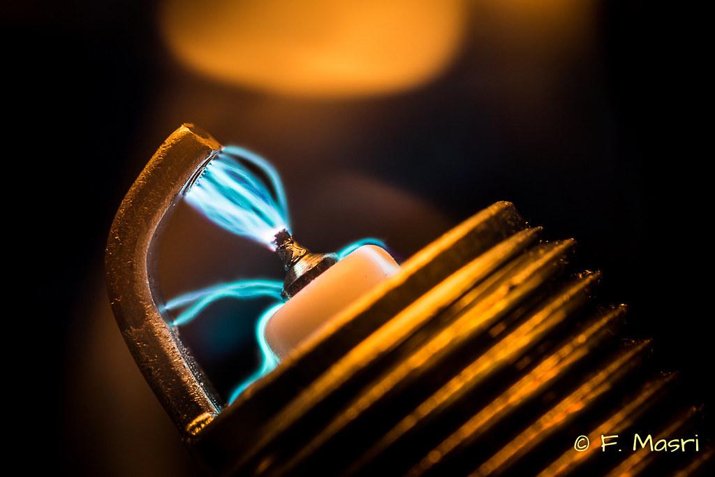 close up spark plug