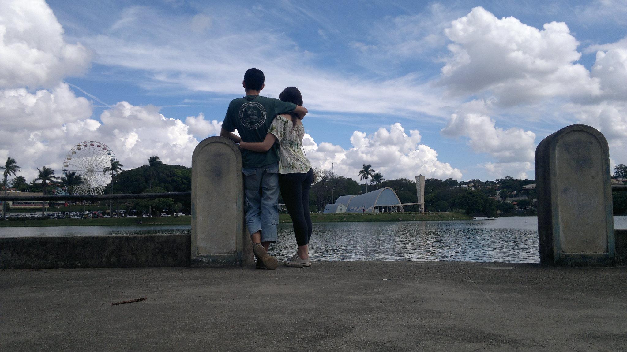 Carol e Eu na Lagoa da Pampulha.