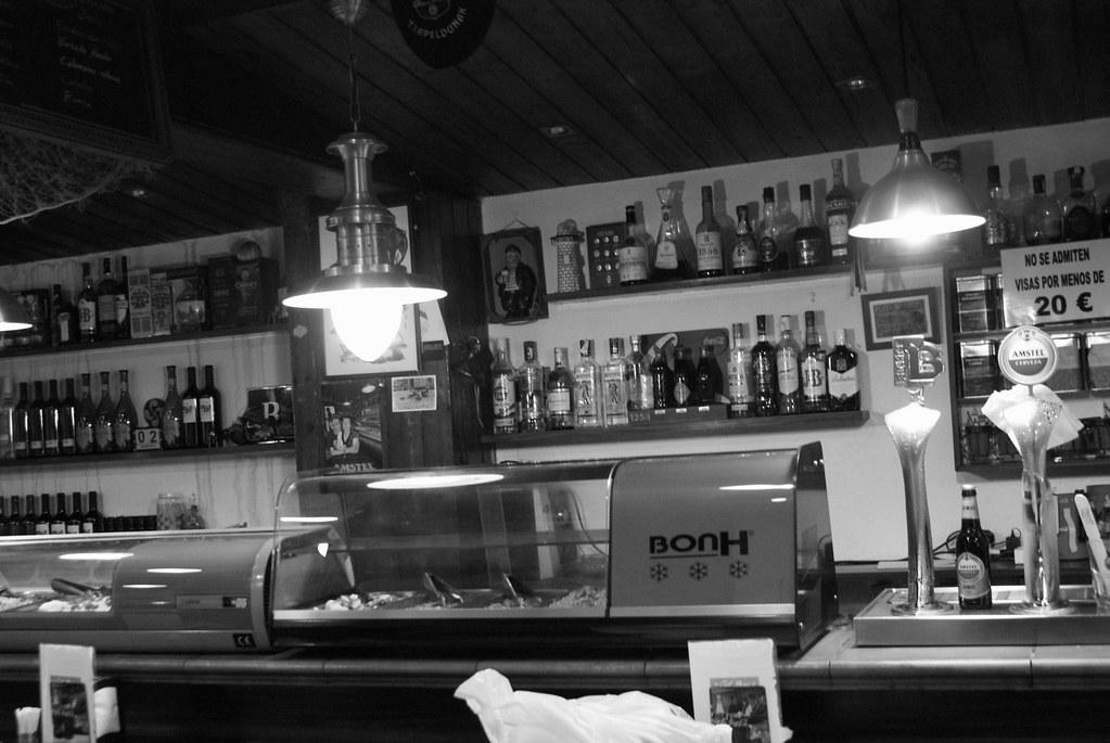 Dans un petit bar resto de Barceloneta