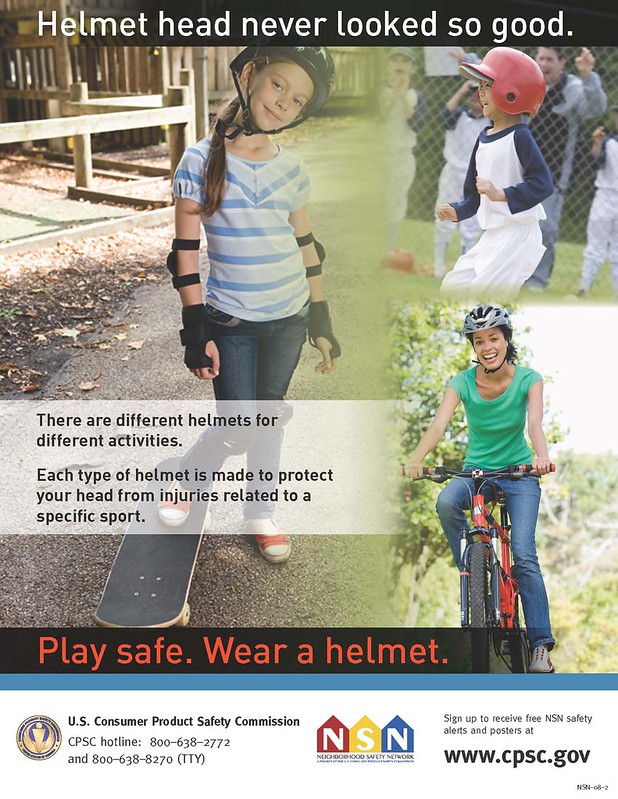 Play Safe. Wear A Helmet