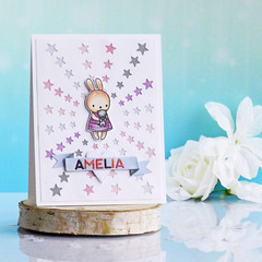 Welcome little Amelia by ilovestamping