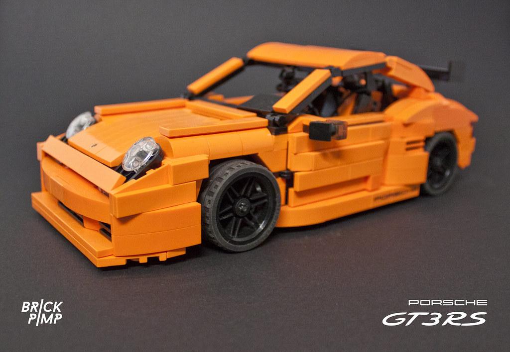 lego porsche 911 carrera gt3 rs orange custom car. Black Bedroom Furniture Sets. Home Design Ideas