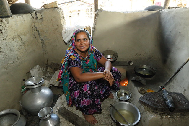 A woman cooking mola in her kitchen in Jessore, Bangladesh. Photo by M. Yousuf Tushar.