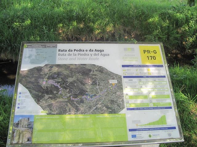 Panel Informativo en el PR-G 170 Ruta da Pedra e da Auga
