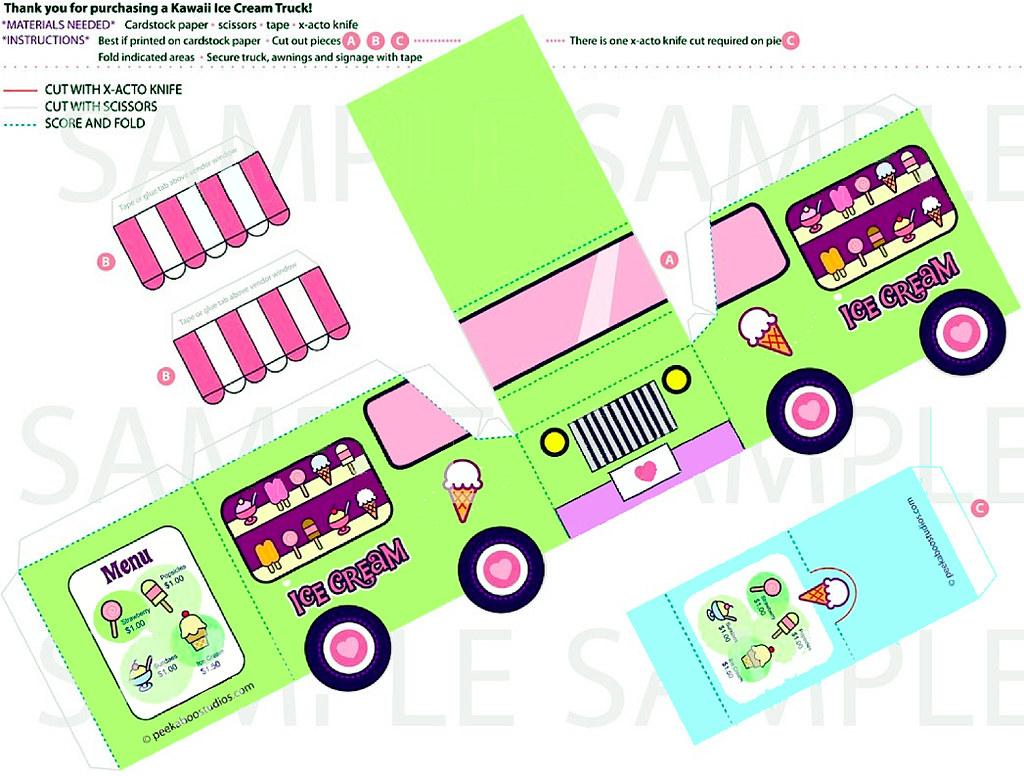 Ice Cream Cup Design Template Ice Cream Truck Template