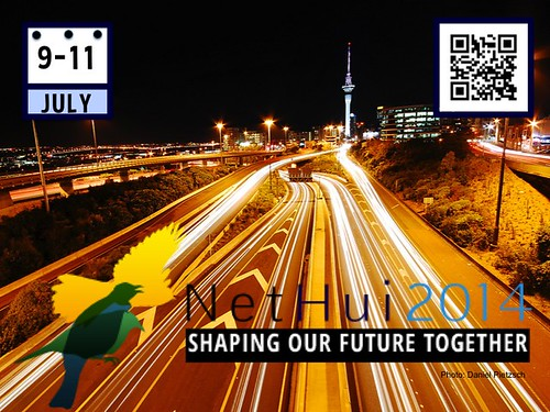 Shaping Our Future Together: #NetHui July 9-11, Auckland, New Zealand @NetHuiNZ @InternetNZ (Poster #2 with Attribution-Share Alike License)