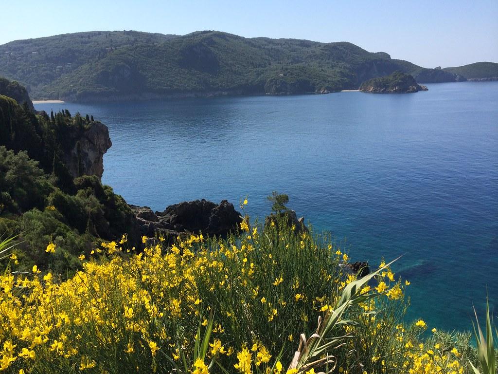 Paleokastritsa Beach, Corfu, Greece