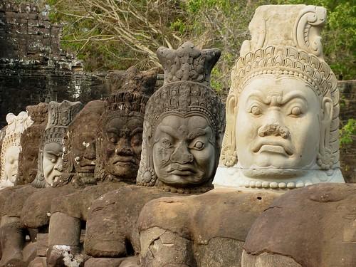 Los guardianes de Angkor Thom