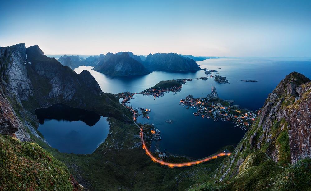 Обои на рабочий стол фьорд Норвегия красиво