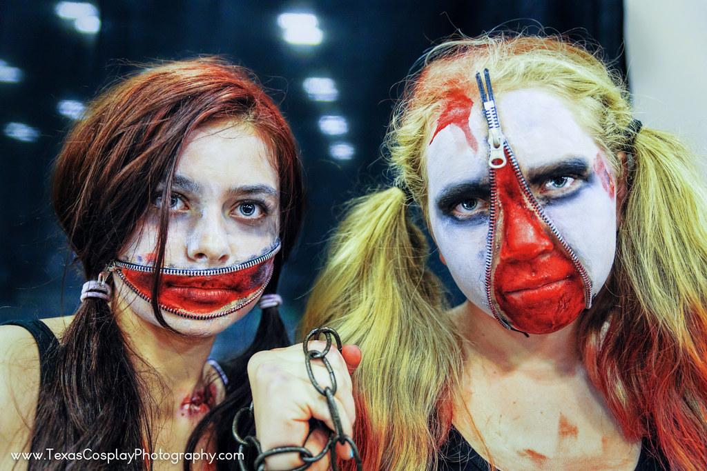 Zipper Face Makeup Zipper Face Zombie Girls