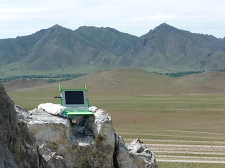 XO and views of Mongolia | by One Laptop per Child