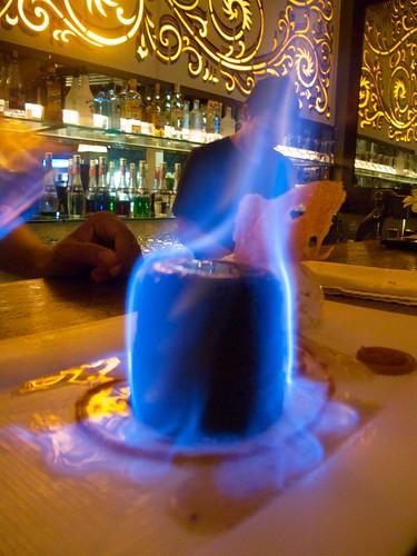Fabulously Hot Dark Chocolate Fondant - Flaming in Cointreau Liqueur ...