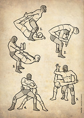 Lucha Libre fighting stances | by ADN