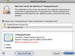 Google's Send Mail Server Security Certificate Expires | by rustybrick
