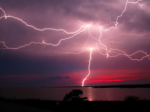 Lightning at Dusk | by Philip Schexnayder