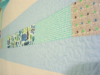 Simple Squares Baby Boy Quilt - Back detail | by alissahcarlton