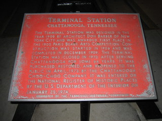 Chattanooga Choo Choo Commemorative Plaque | by ralpe