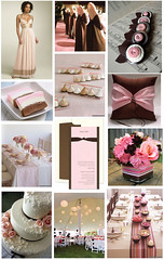 Pink and Brown with a Touch of Cream - A Neapolitan Wedding Inspiration Board | by finestationery