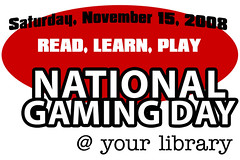 National Gaming Day @ your library logo | by ALA staff