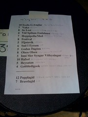 Sigur ros bonnaroo 2008 set list or setlist | by davidwatts1978