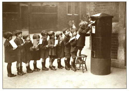 People - 'Letterbox' Kids mailing letters | by 9teen87's Postcards
