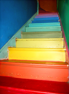 Emily's rainbow stairs | by rlonas