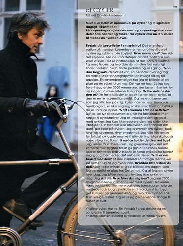 Interview in Danish Mag | by Mikael Colville-Andersen
