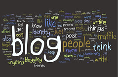 Blogging Research Wordle | by Kristina B