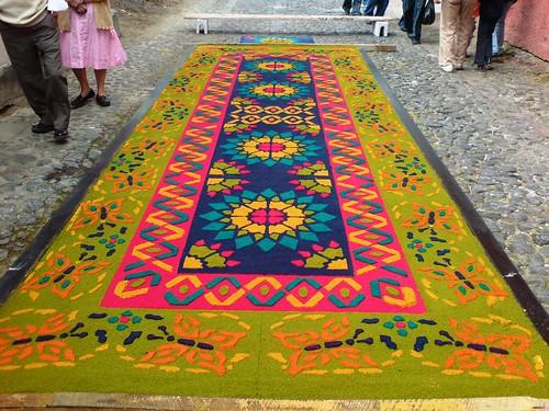 Alfombra para el paso de la procesi n de santa ana for El paraiso de las alfombras