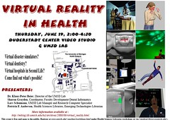 Virtual Reality in Health - Event poster | by rosefirerising