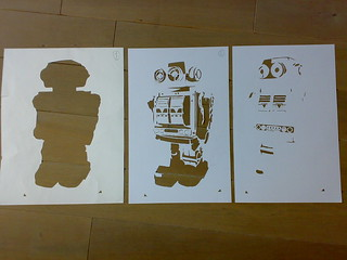 fake robot stencil | by .FAKE.