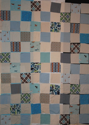Baby Boy quilt top on design wall | by alissahcarlton
