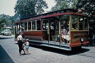 Trolley at Knott's Berry Farm, 1960 | by lreed76
