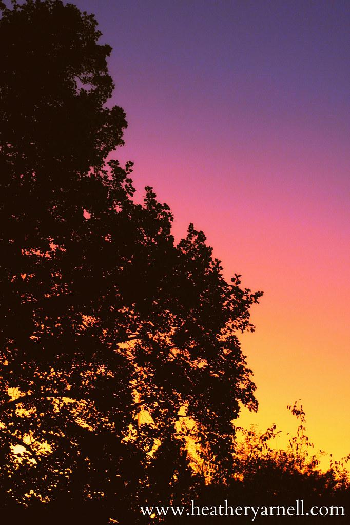 Midwest Rainbow Sunset
