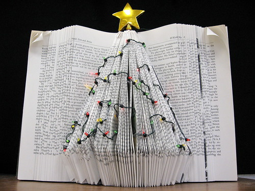 Holiday Tree Book Art | by Kimbrough Library